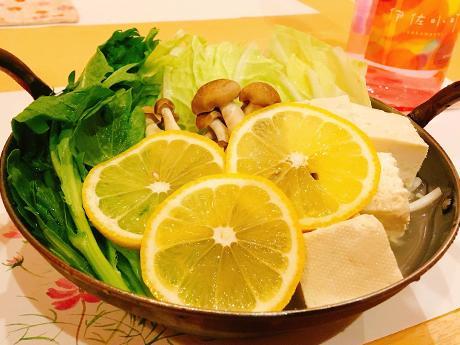 看板メニュー「レモン鍋」