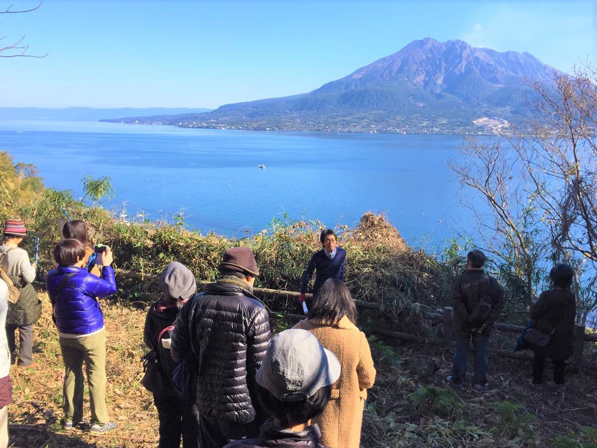 花倉御仮屋から見る錦江湾と桜島