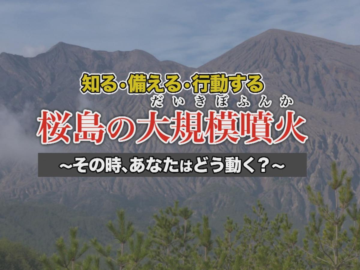 桜島火山防災啓発映像のタイトル