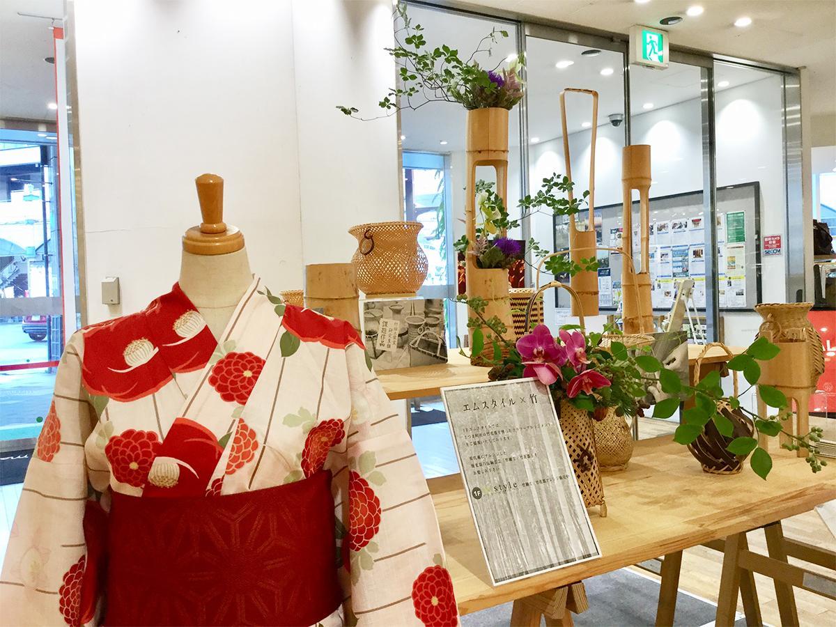 さつま町竹細工展示の様子