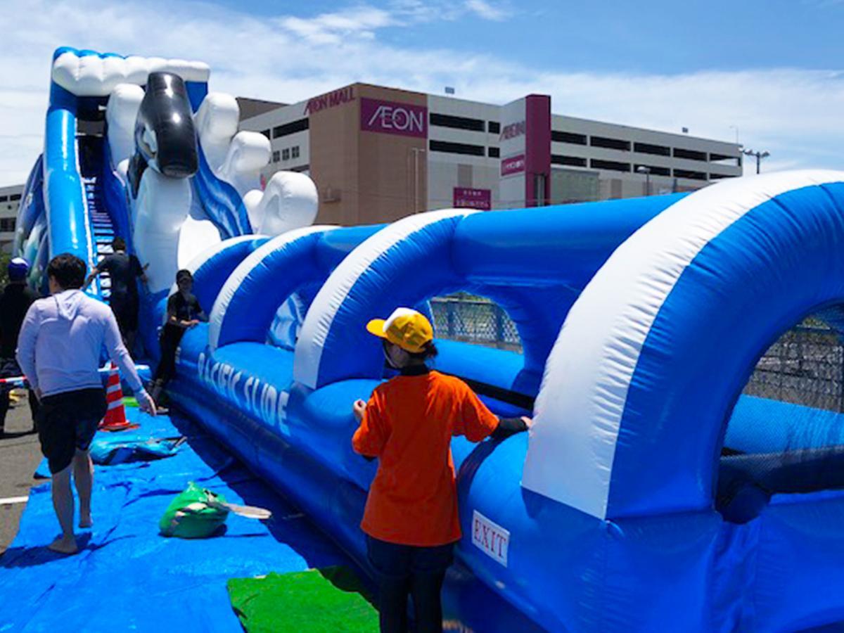 昨年利用が多かったプール全長20メートルの「ウオータースライダー」。