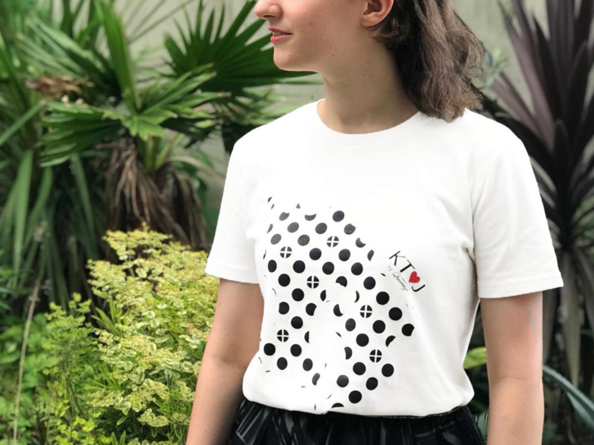 西郷隆盛の言葉「敬天愛人」の頭文字を取った「KTIJ」Tシャツ