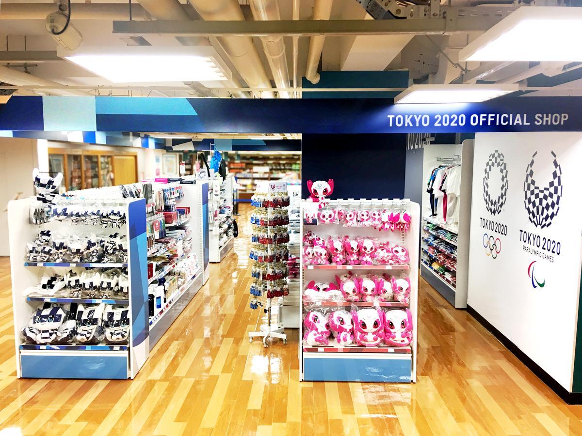 「東京2020オフィシャルショップ鹿児島店」の様子