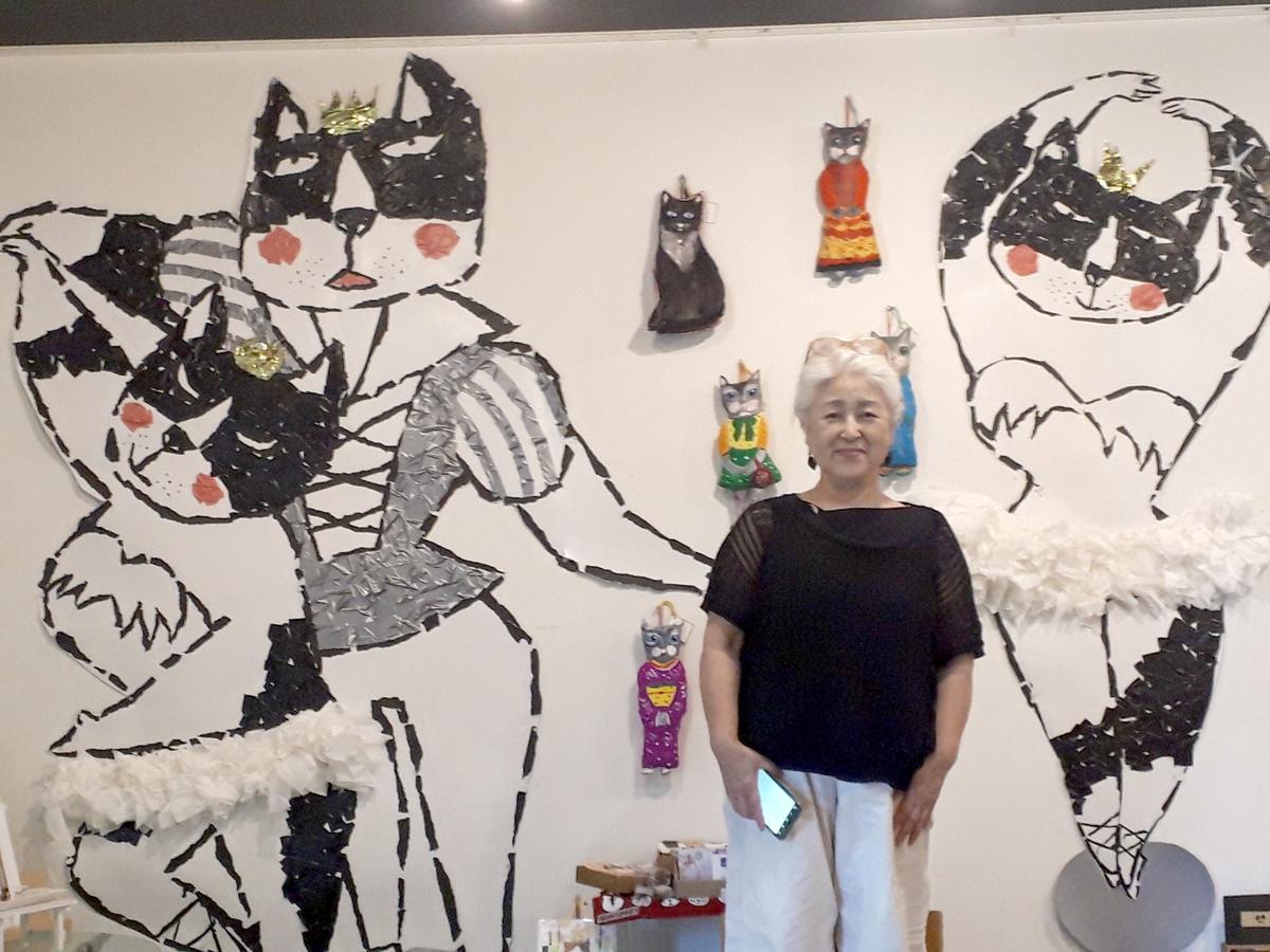 イラストレーター「ペコラ」さんが描いた壁面