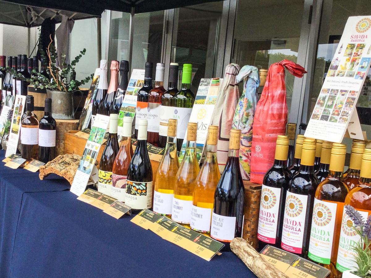 約40種類の自然派ワイン