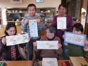 加古川のカフェでアットホームな絵画教室 今年も描き初め