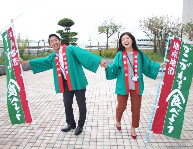 イベントをPRする高橋周さんと白川七菜さん