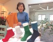 加古川の靴下専門店でコラボイベント 花見も一緒に楽しんで