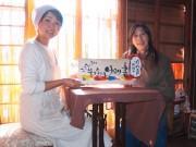 加古川古民家カフェで「筆文字アート展」 年賀状作りのワークショップも