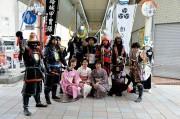 加古川の商店街で時代パレード 誓文払いと合わせて楽しんで