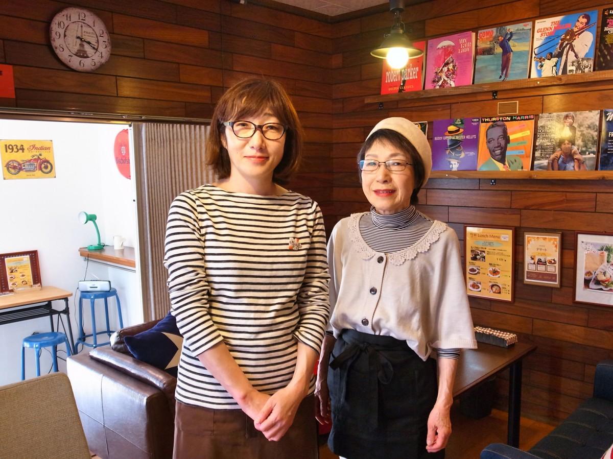 経営者の中川さん(左)と店長の河野さん(右)
