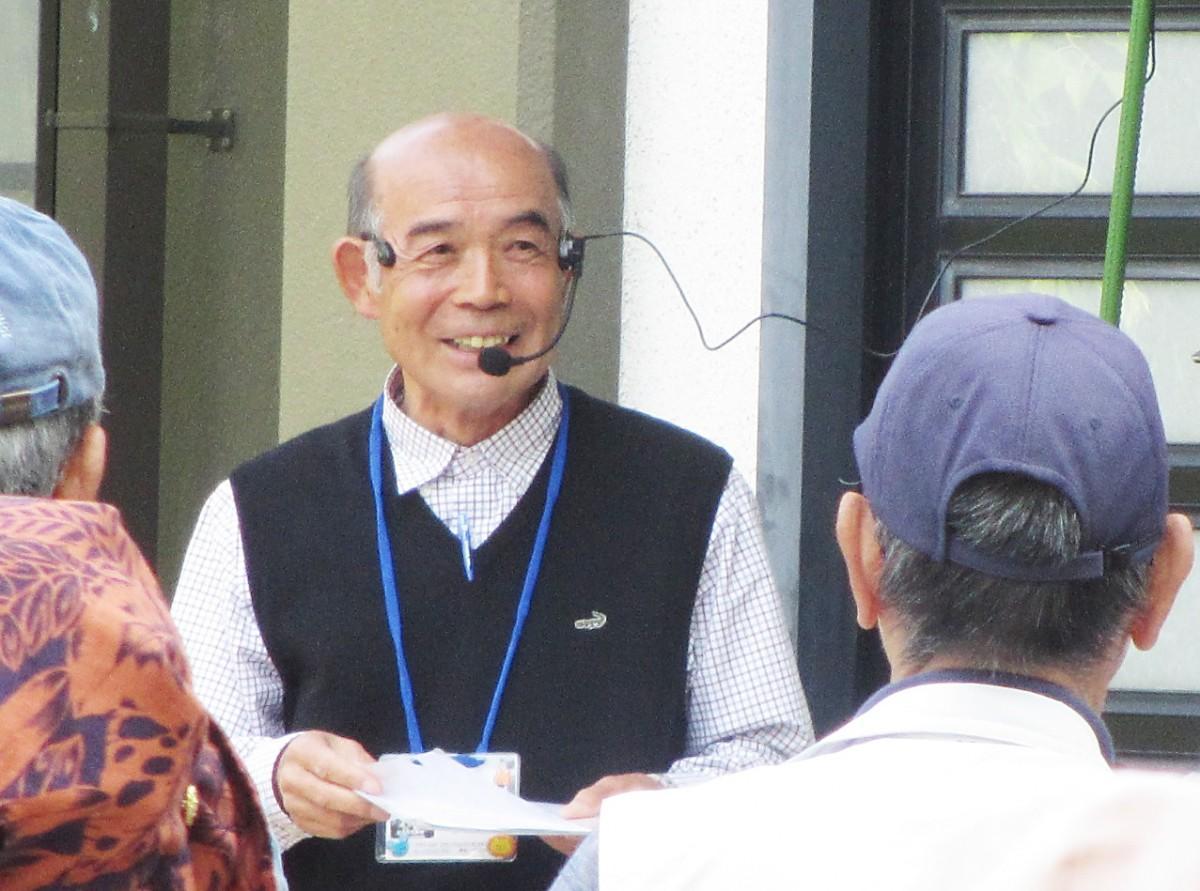 参加者に説明する渡邊さん