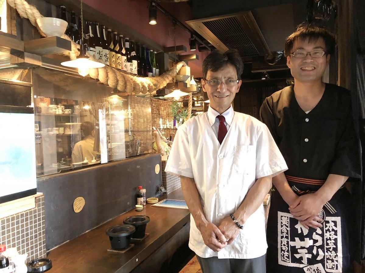(左)料理長の須賀英昭さん(右)オーナーの森田芳弘さん