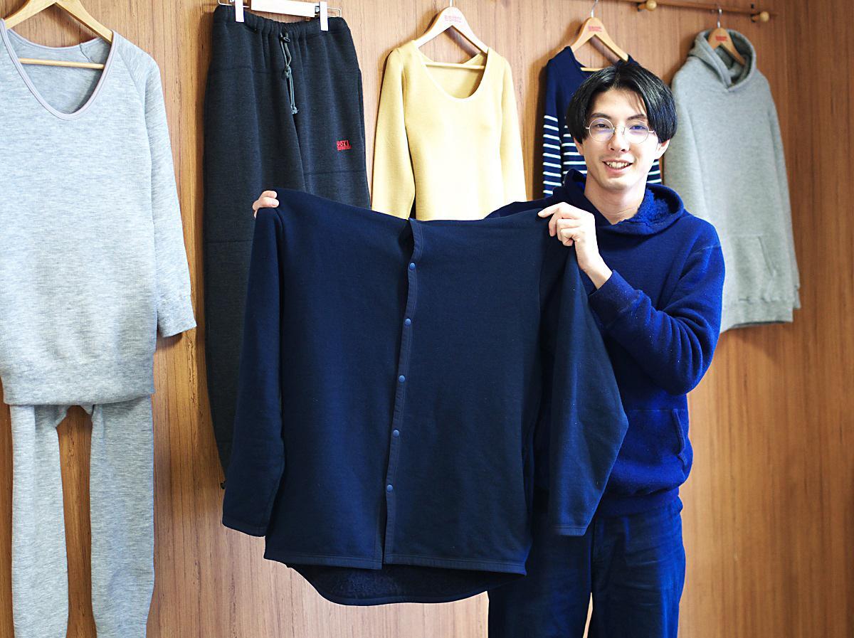 「もちはだ起毛生地を使ったパジャマ」プロジェクト担当者の鷲尾岳さん