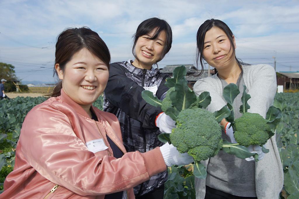 収穫体験をした参加者
