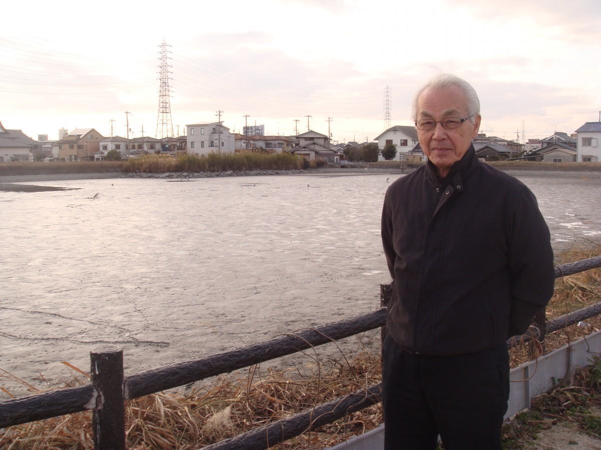 広島会長と会場の別府皿池