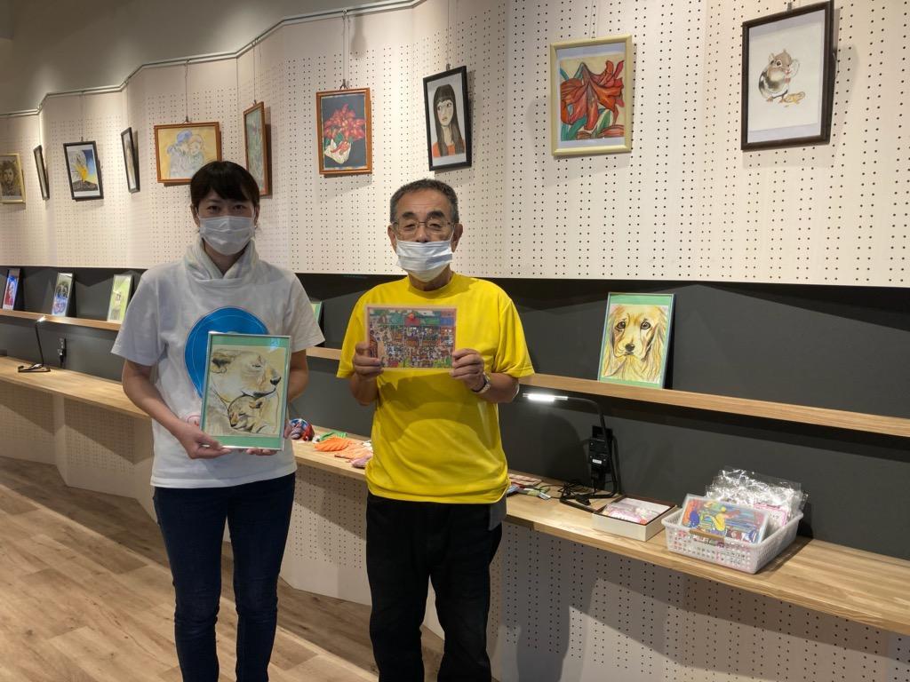 尾崎知香さん(左)就労継続支援B型事業所 西川正人さん(右)