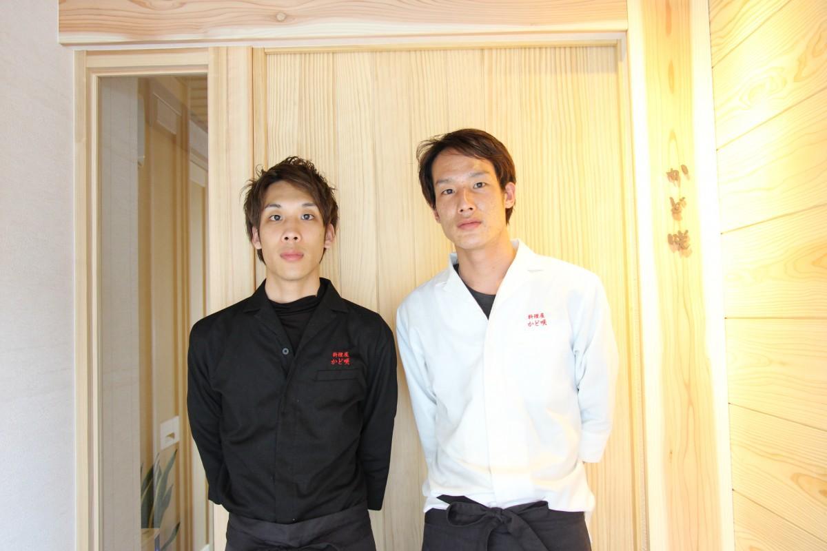 料理長の角崎準人さん(右)と副料理長で弟の優人さん(左)