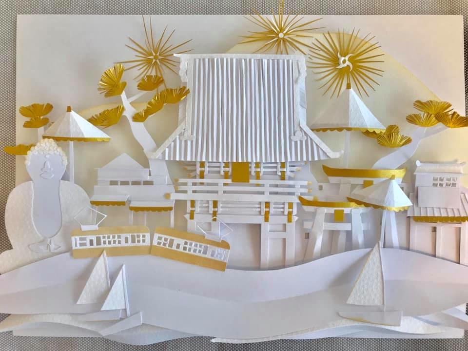 会場全体の装飾を担当するKANAKOさんによる作品。当日も会場に展示する