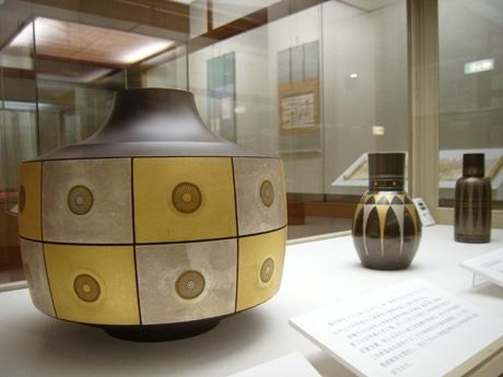 高橋介州作・加賀象嵌「金銀の譜」飾壷