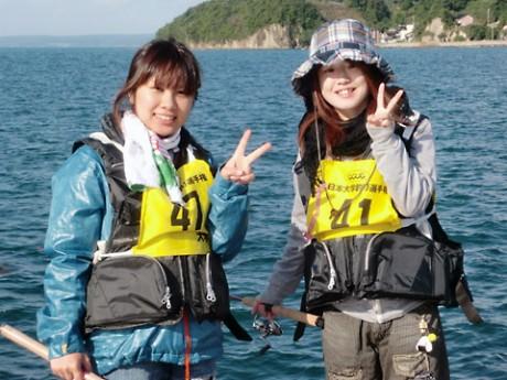 昨年、開催された「全日本学生釣り選手権大会」の様子