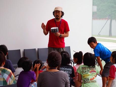 金沢21世紀美術館で開催された「こども映画教室」
