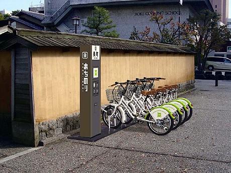 長町に設けられるサイクルポートのイメージ図(金沢市提供)