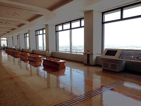 石川県庁19階の展望ロビー