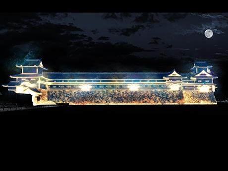 「金沢城プロジェクションマッピング」のイメージ