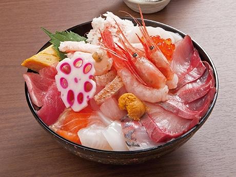 鮮魚店ならではの目利きと流通生かした「海鮮えにし丼」