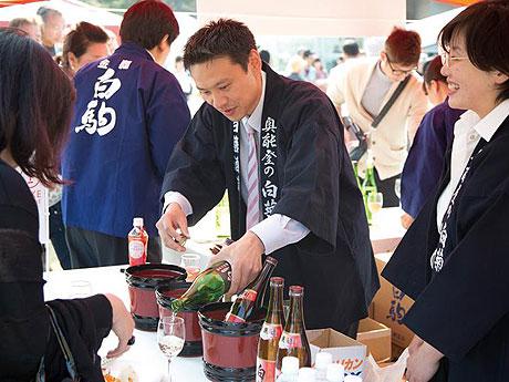 昨年の「日本酒ブース」