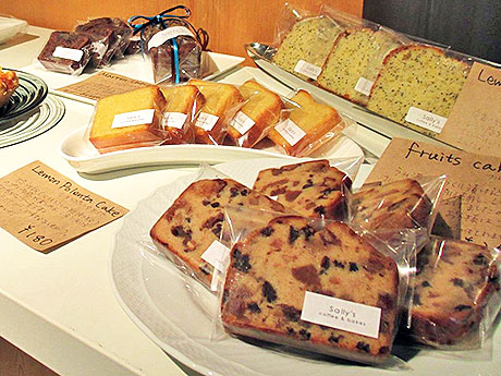 毎日焼き上げる手作りのお菓子が人気