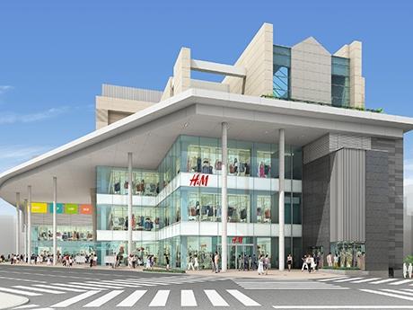 9月開業予定の複合ビル完成イメージ