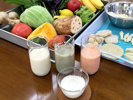 おから100%の食材で作った野菜・果物ジュース