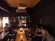 金沢の町家日本酒バーでジャズコンサート 清酒とチョコ楽しみながら