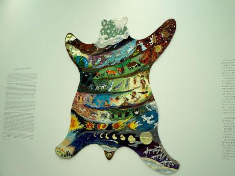 展示室2に展示される鴻池朋子さんの作品