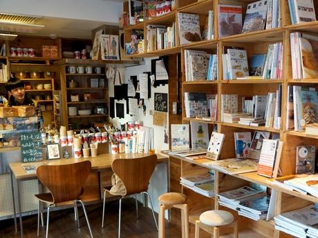 フードピア金沢の協賛イベントに参加する「美味しい本屋さん OH LIFE」の店内