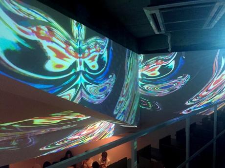 「DK art cafe」のデジタル掛け軸