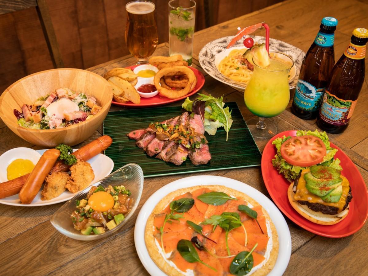 ハワイ料理を中心に提供