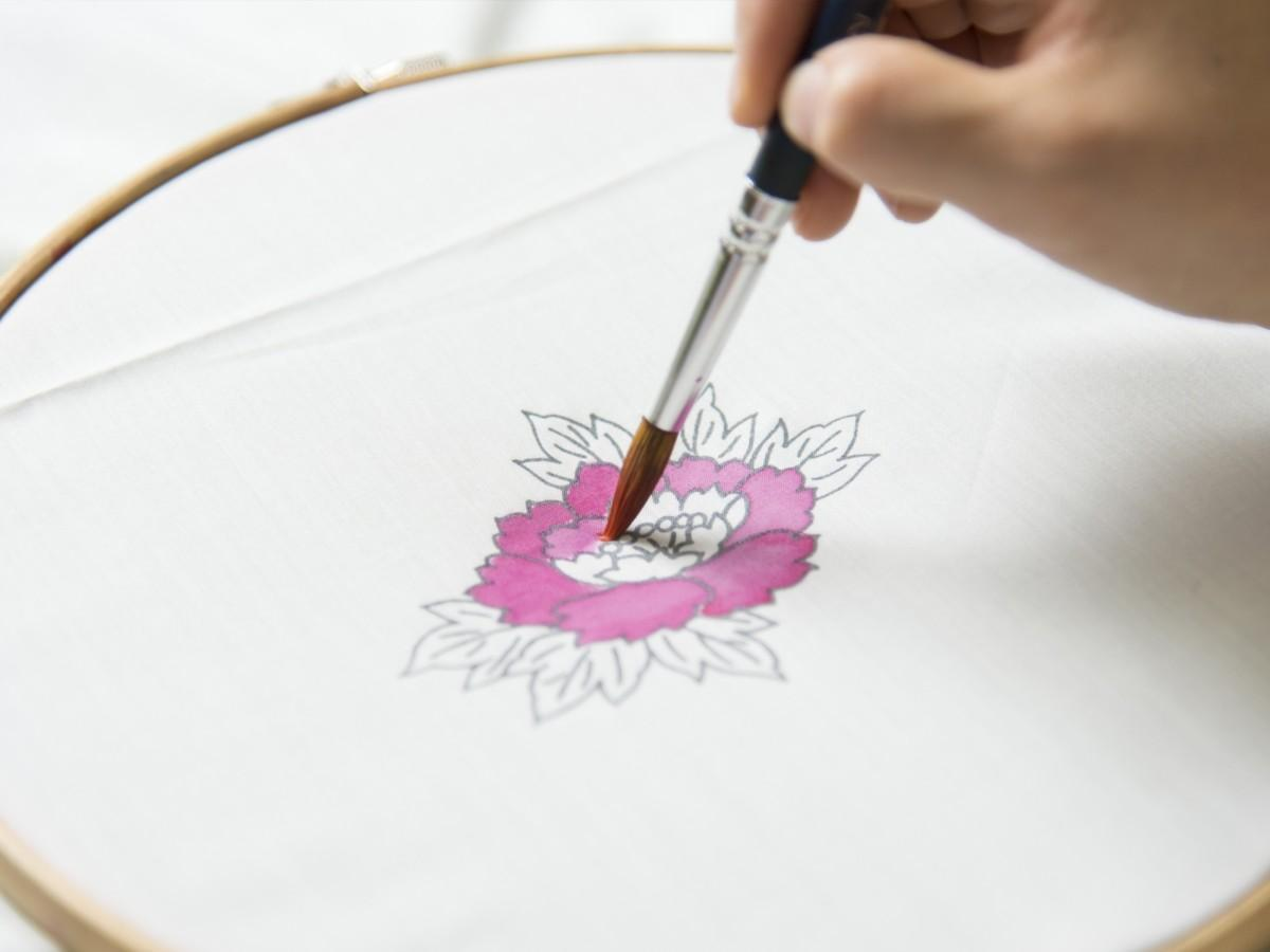 加賀友禅の型染め体験教室のイメージ
