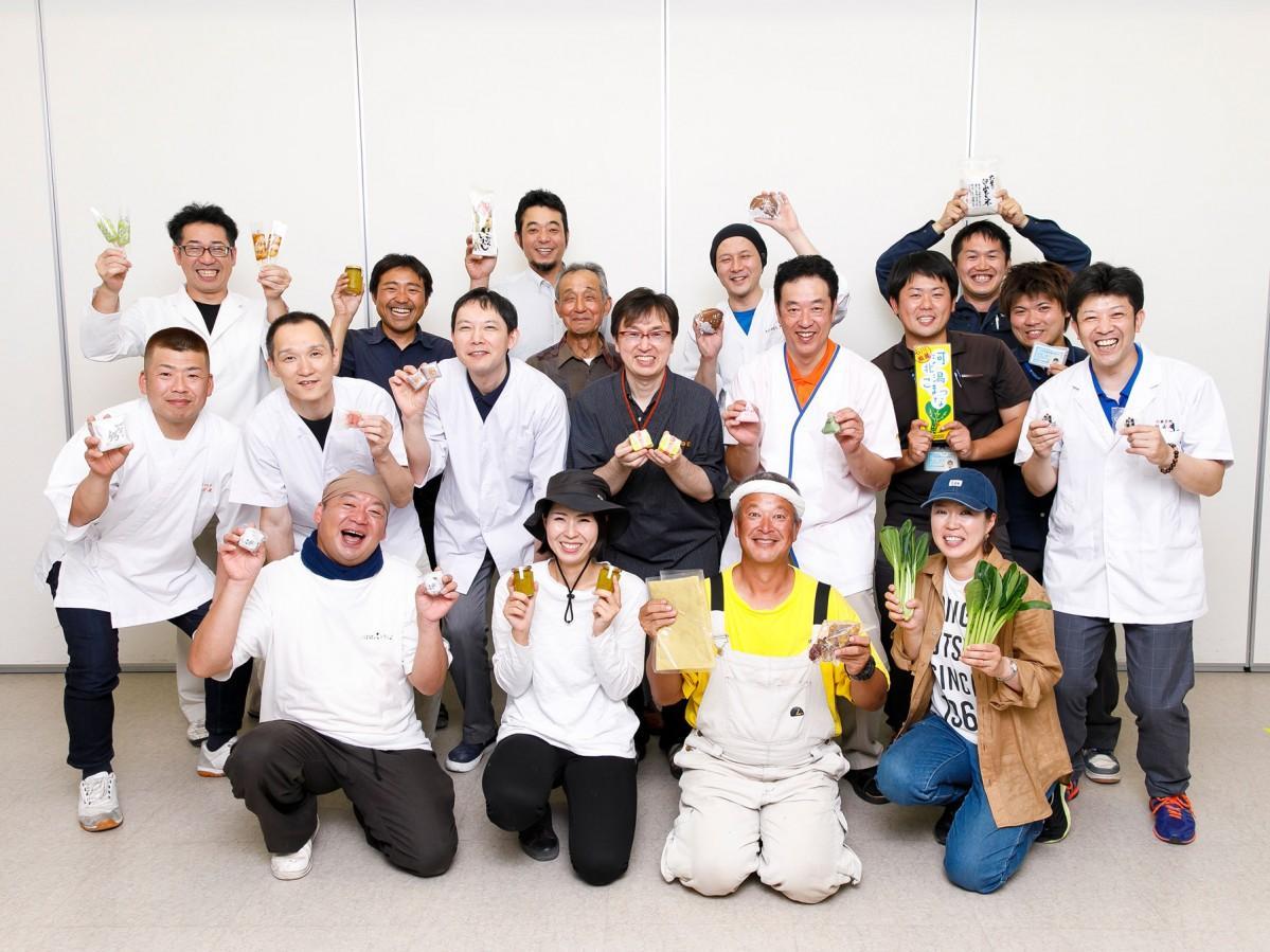「農菓プロジェクト」に参加する石川県内の生産農家と和菓子店