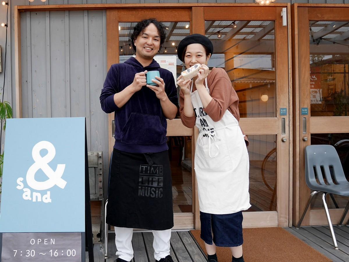 店主の穴田祐介さん、綾子さん夫妻