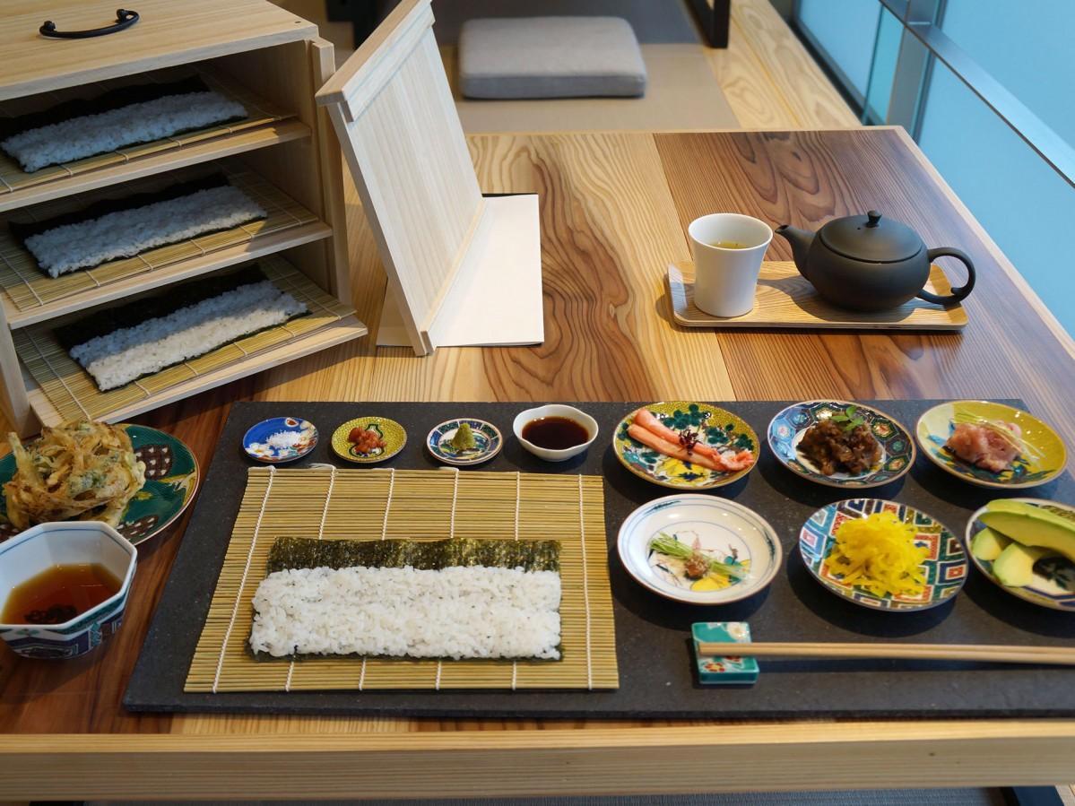 細巻きコンボ 6皿+天ぷら