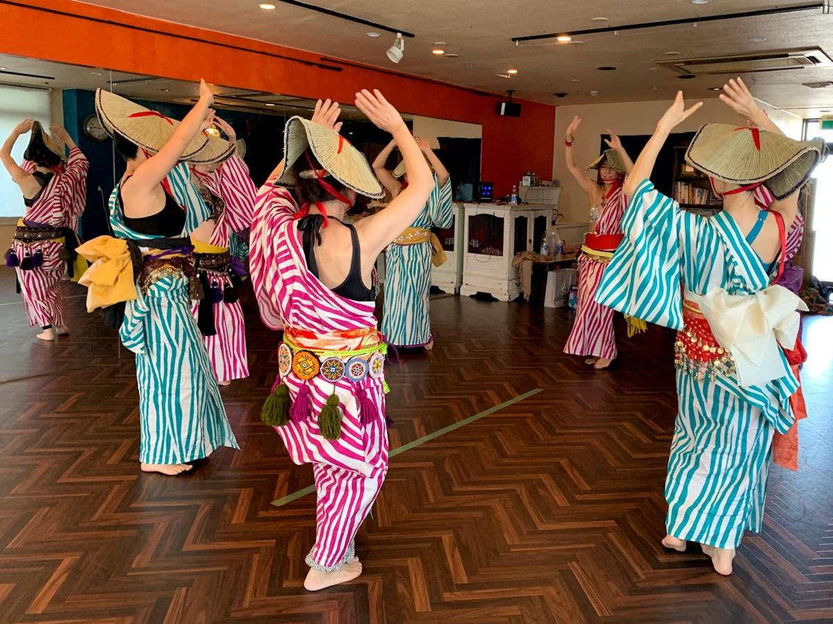 「珠洲エキゾ盆踊り」練習の様子