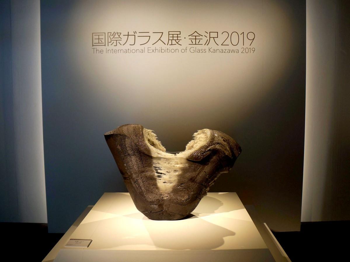 しいのき迎賓館で開始されている「国際ガラス展・金沢2019」の会場風景