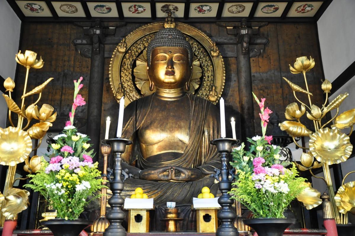 浄安寺の木造阿弥陀如来坐像