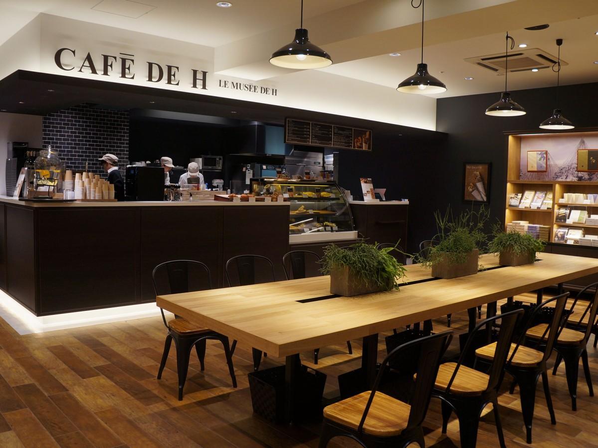 辻口博啓さんが手掛ける「CAFE DE H」店内の様子
