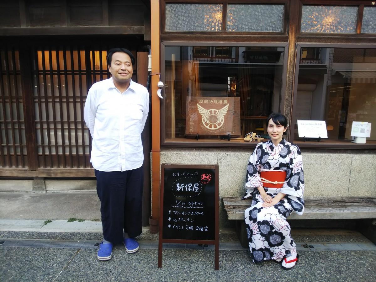 オーナーの新保拓海さん(左)と番頭の松岡理恵さん(右)