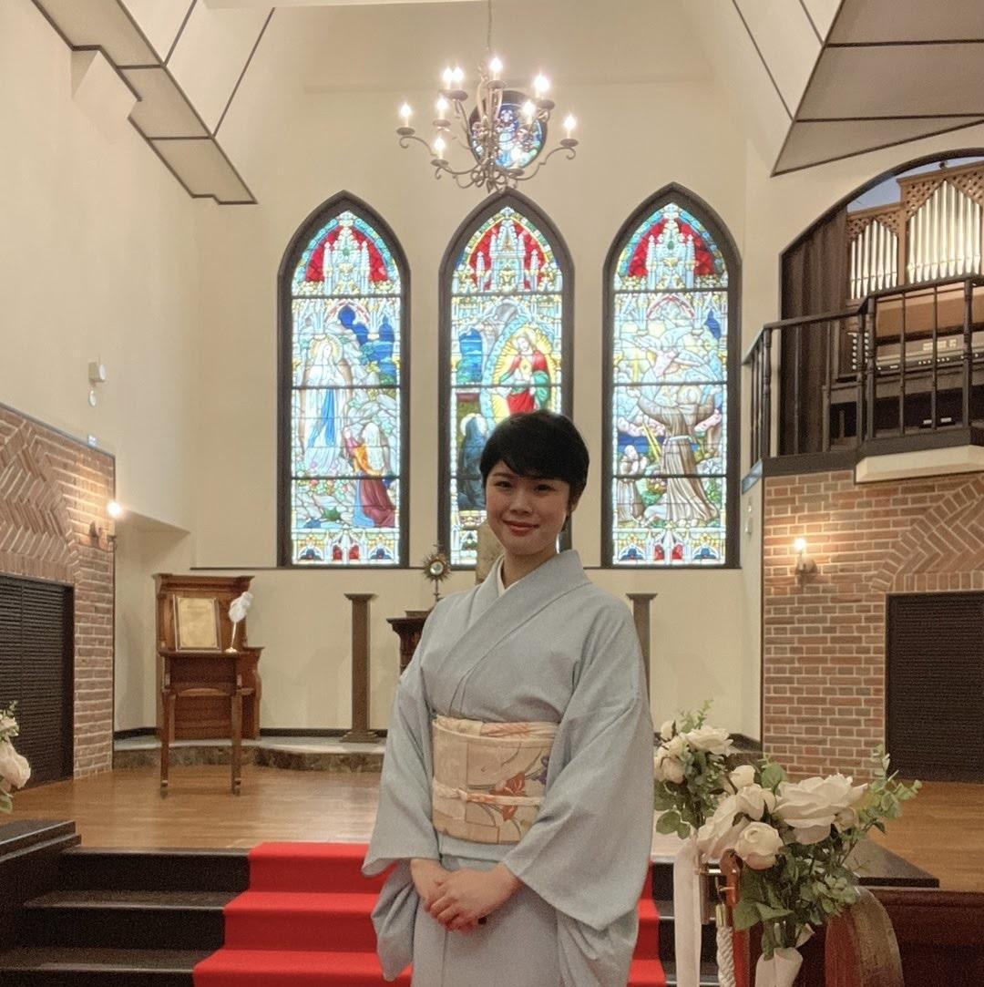 「金澤モリス教会」と老舗料亭「つば甚」の若女将・鍔さん