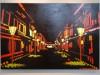 金沢で大村雪乃さん夜景のシールアート展 ひがし茶屋街・卯辰山題材の作品も